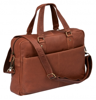 Stanford - Laptoptasche by CB in Echt-Leder, cognac - LEAS Classic Bags