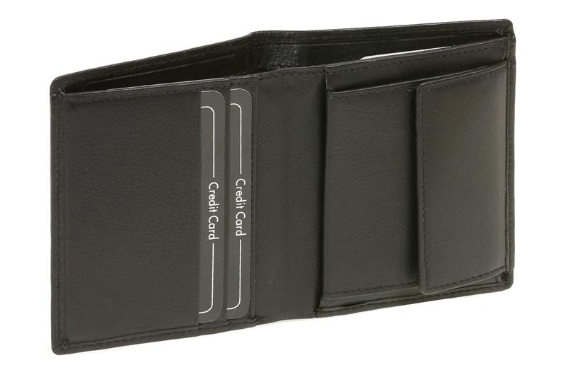 adfcd1d25367e Damen und Herren Minibörse Geldbeutel dünn extra flach viele Karten im  Hochformat LEAS in Echt-