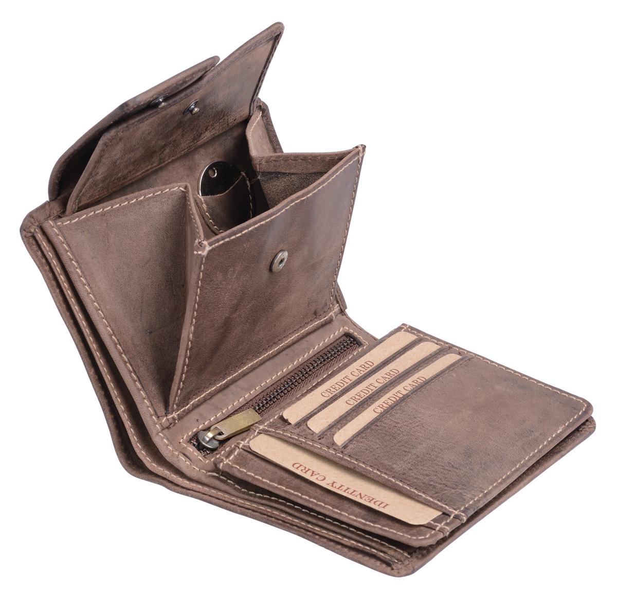 be19e0a931760d Herren und Damen Geldbörse mit Verschluss (mit LEAS-Geschenkbox) LEAS in  Echt-