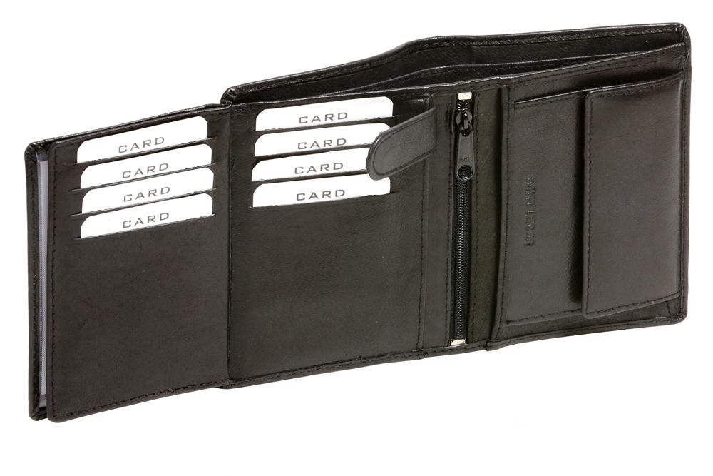 970b8dedc4f29 Leas-Leder - Geldbörse Herren mit RFID Schutz kompakt LEAS